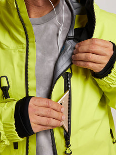 Tds® Inf Gore-tex Jacket In Lime, Sixth Alternate View