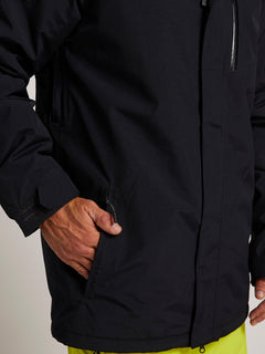 L Insulated Gore-tex Jacket In Black, Third Alternate View