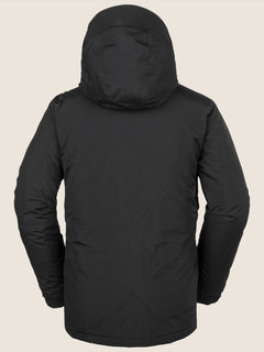 L Insulated Gore-tex Jacket In Black, Back View