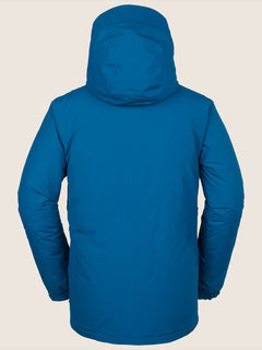 L Insulated Gore-tex Jacket In Blue, Back View