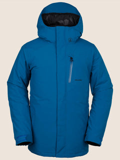 L Insulated Gore-tex Jacket In Blue, Front View
