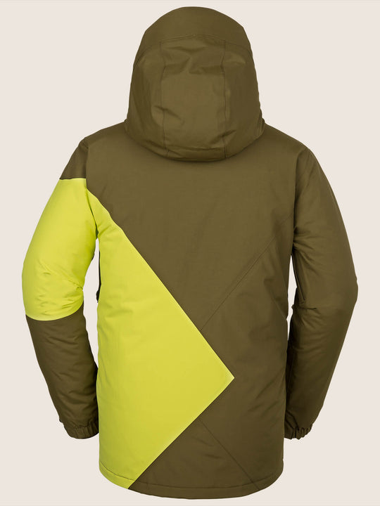 844cfb84c00d L Insulated Gore-tex Jacket In Moss, Back View