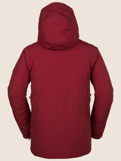 L Insulated Gore-tex Jacket In Red, Back View