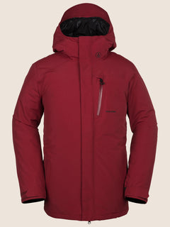 L Insulated Gore-tex Jacket In Red, Front View