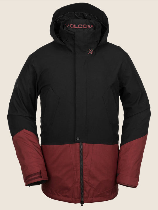 Pat Moore 3-In-1 Jacket In Burnt Red, Front View