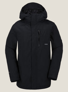 L Gore-tex Jacket In Black, Front View