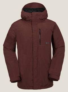 L Gore-tex Jacket In Burnt Red, Front View