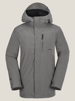 L Gore-tex Jacket In Charcoal Grey, Front View