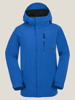 L Gore-tex Jacket In Snow Royal, Front View