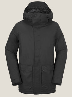 Utilitarian Jacket In Black, Front View