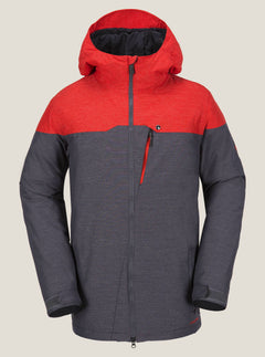 Prospect Jacket In Fire Red, Front View