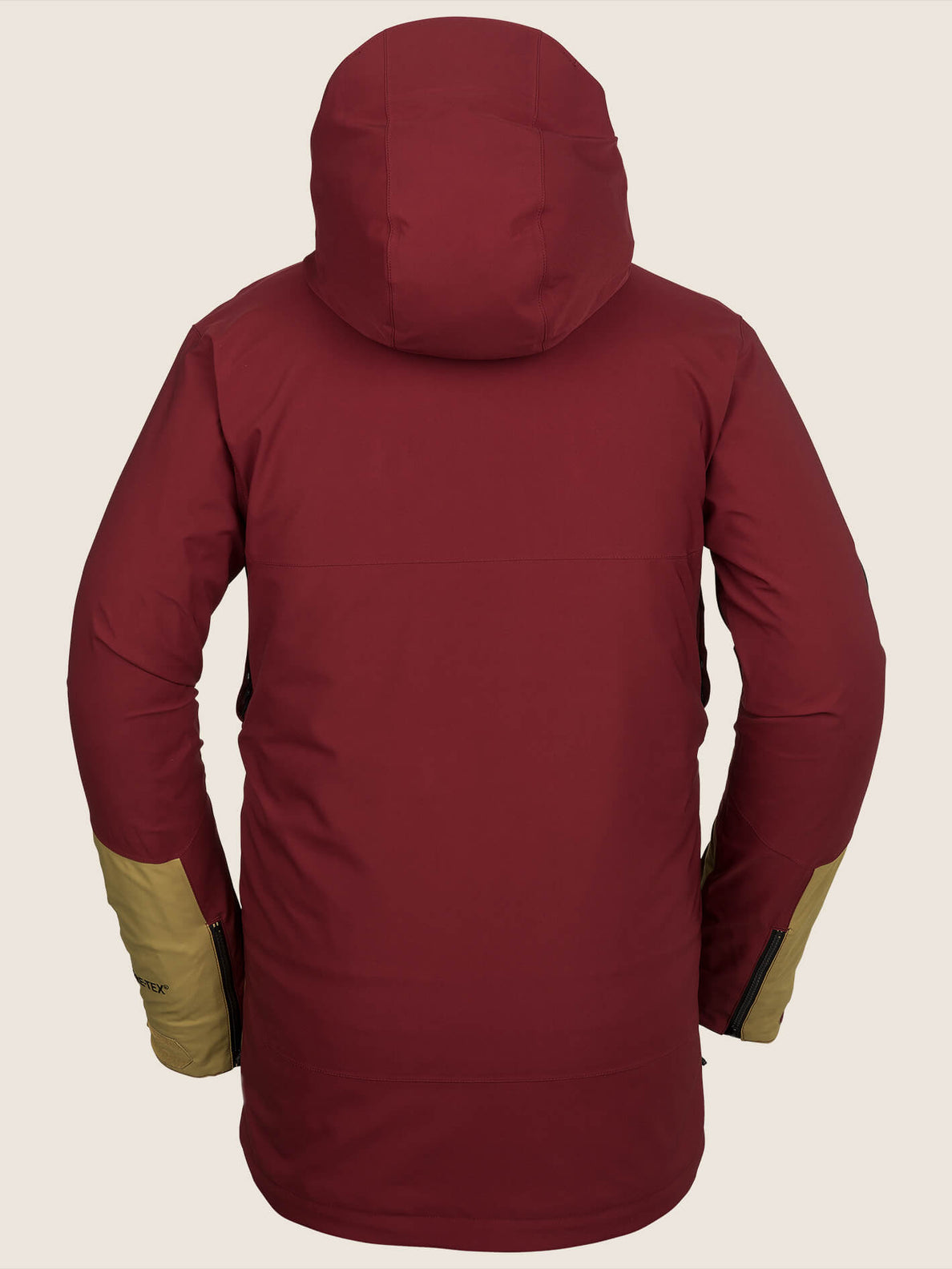 Bl Stretch Gore-tex Jacket In Burnt Red, Back View
