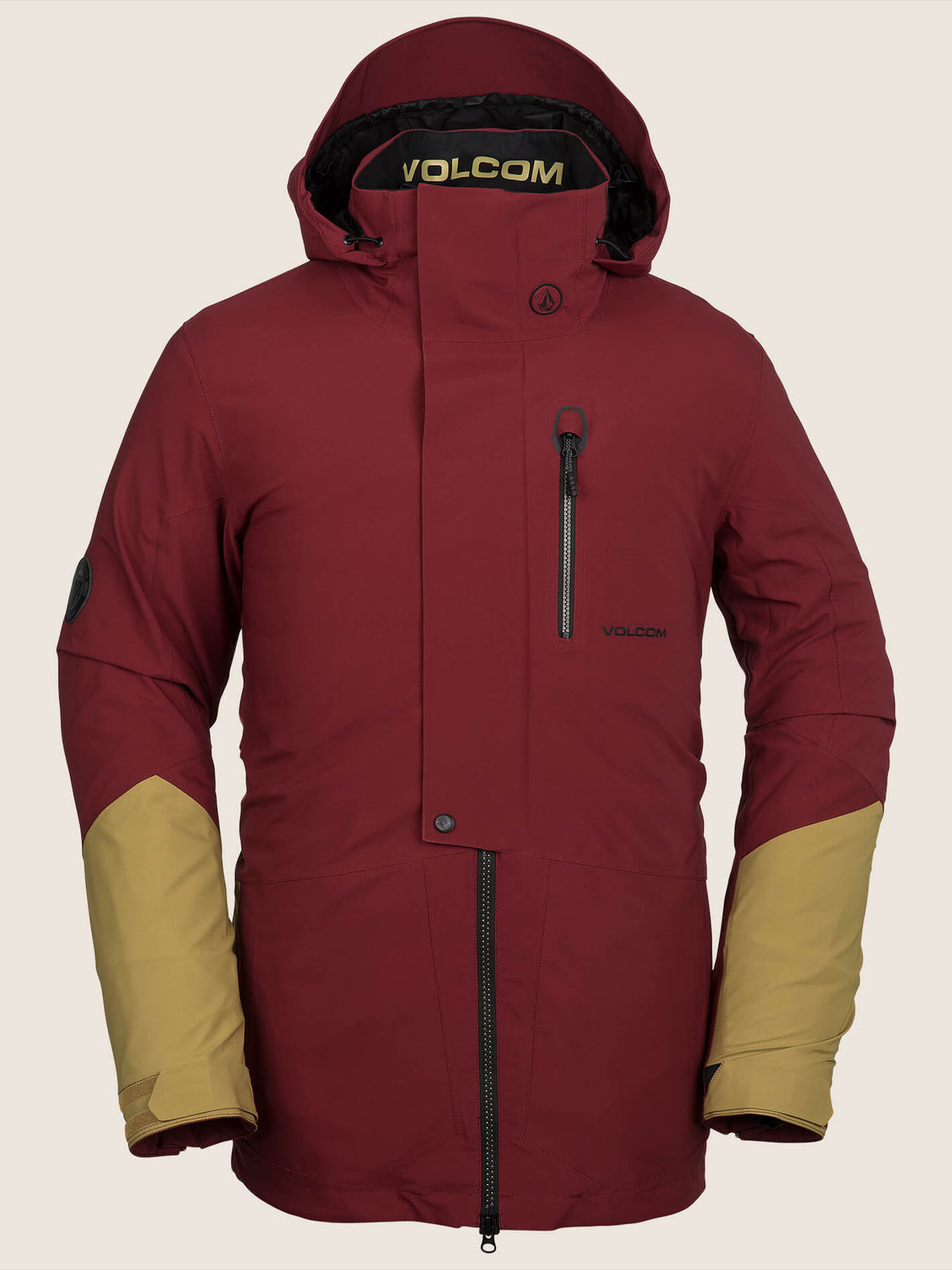 Bl Stretch Gore-tex Jacket In Burnt Red, Front View