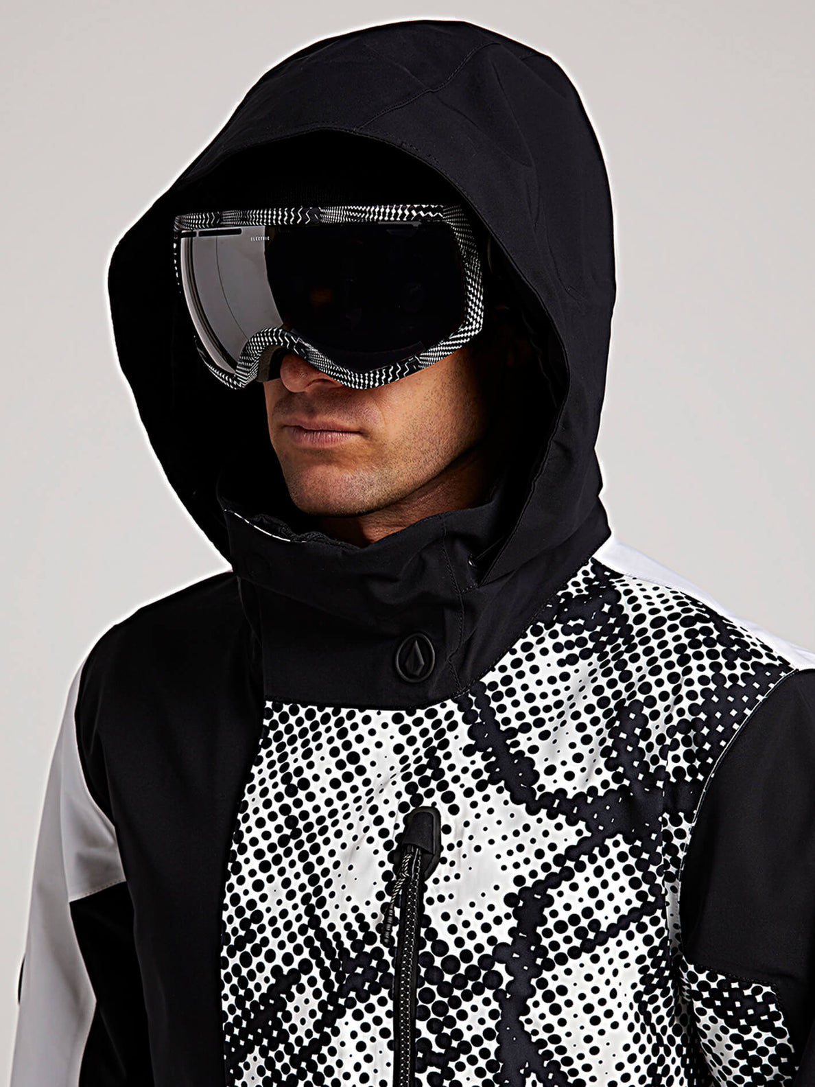 Bl Stretch Gore-tex Jacket In Black White, Second Alternate View