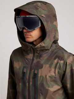 Stone Gore-tex Jacket In Camouflage, Second Alternate View