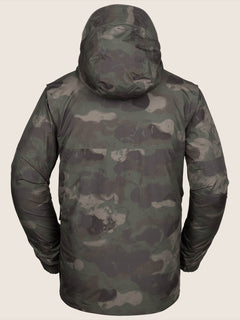 Stone Gore-tex Jacket In Camouflage, Back View