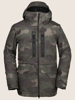 Stone Gore-tex Jacket In Camouflage, Front View