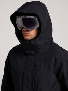 L Gore-tex Jacket In Black, Second Alternate View