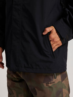 L Gore-tex Jacket In Black, Sixth Alternate View