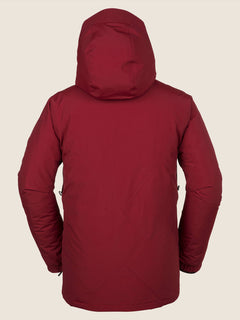 L Gore-tex Jacket In Red, Back View