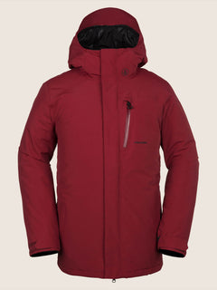 L Gore-tex Jacket In Red, Front View