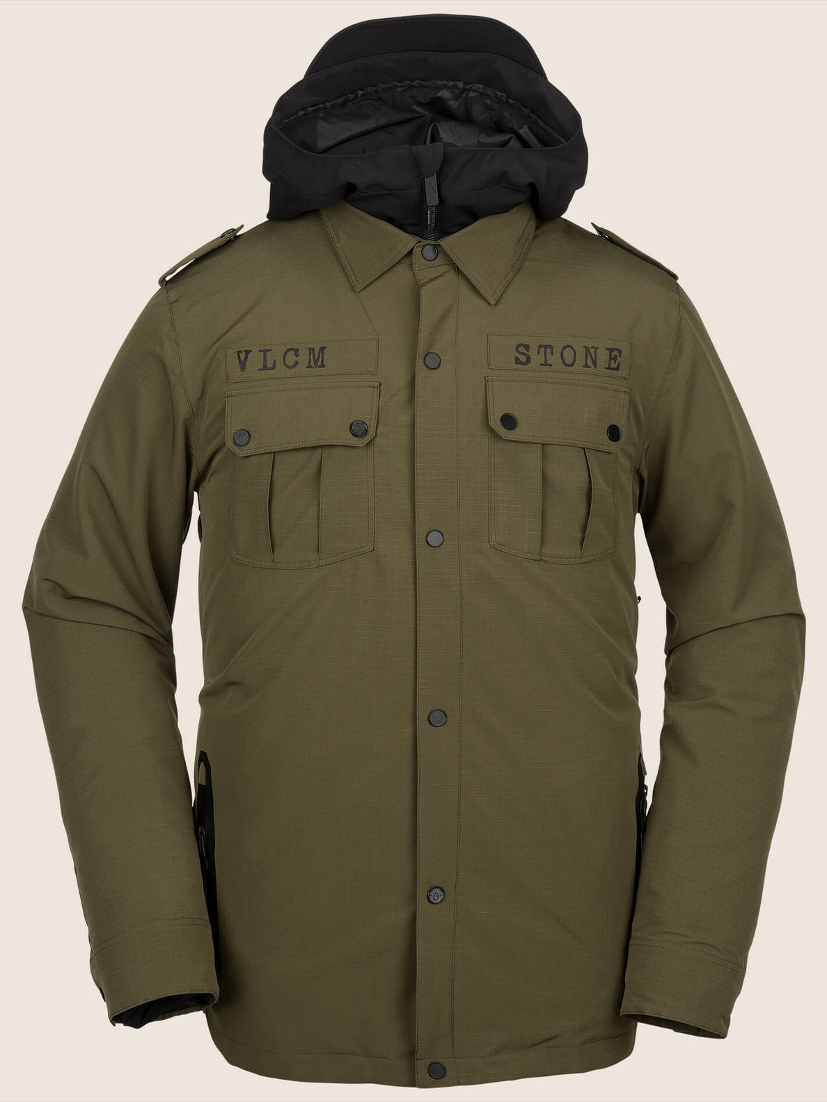 Creedle2stone Jacket In Snow Military, Front View