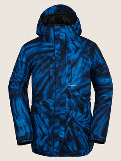 Fifty Fifty Jacket In Blue Tie-dye, Front View