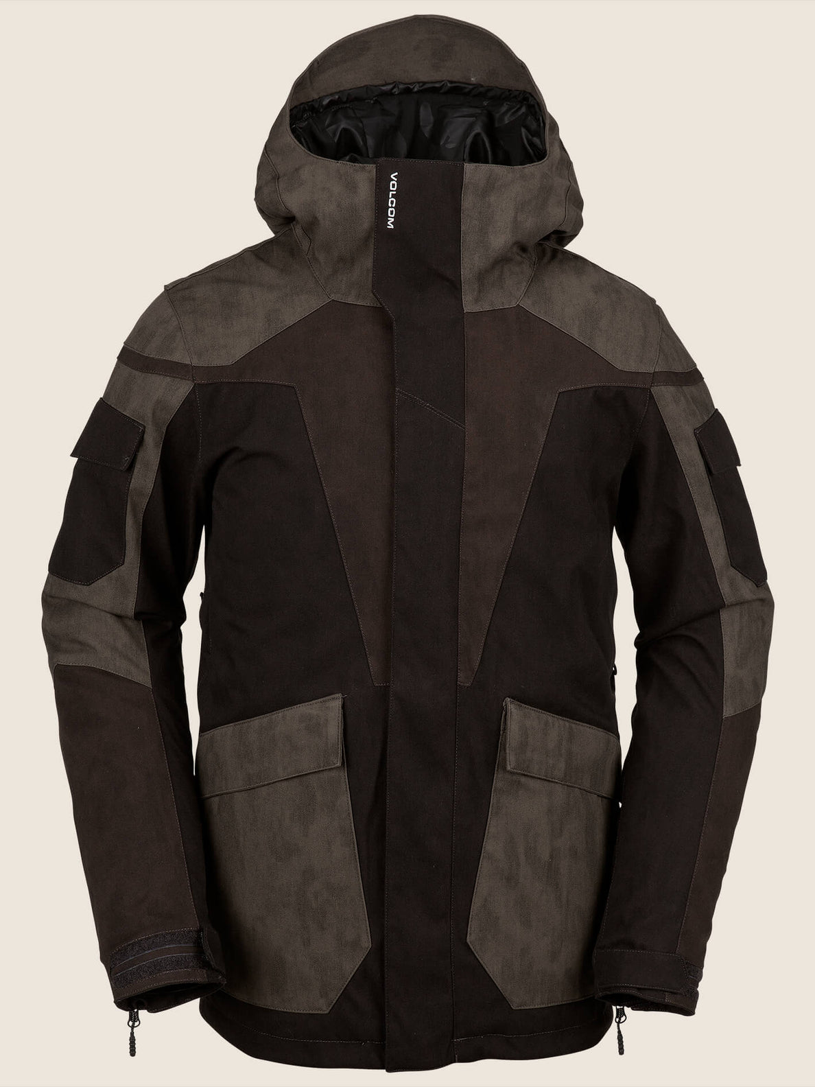 Utility Jacket In Black Combo, Front View