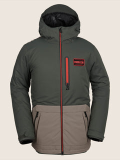 Analyzer Jacket In Black Green, Front View