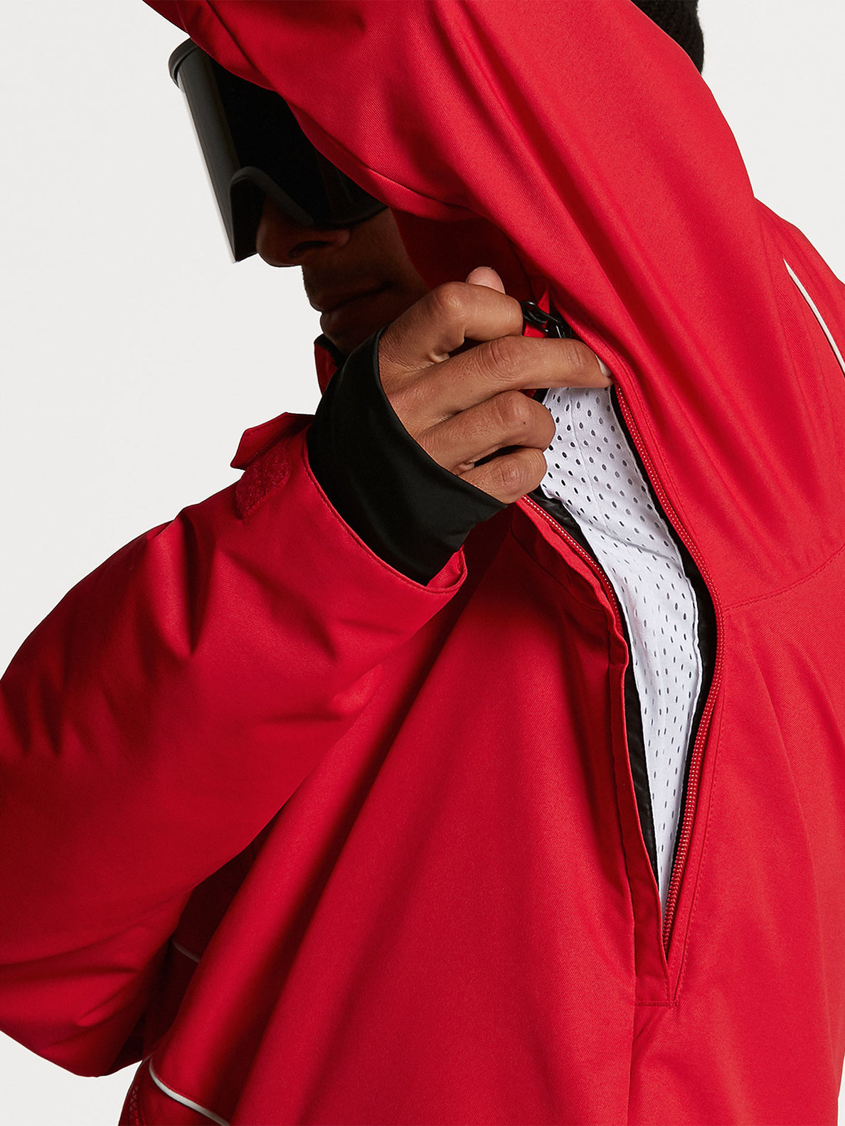 Mens No Hood X Jacket - Red (G0652114_RED) [05]