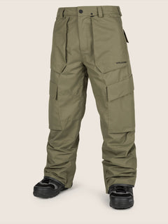 Eastern Insulated Pant In Snow Military, Front View