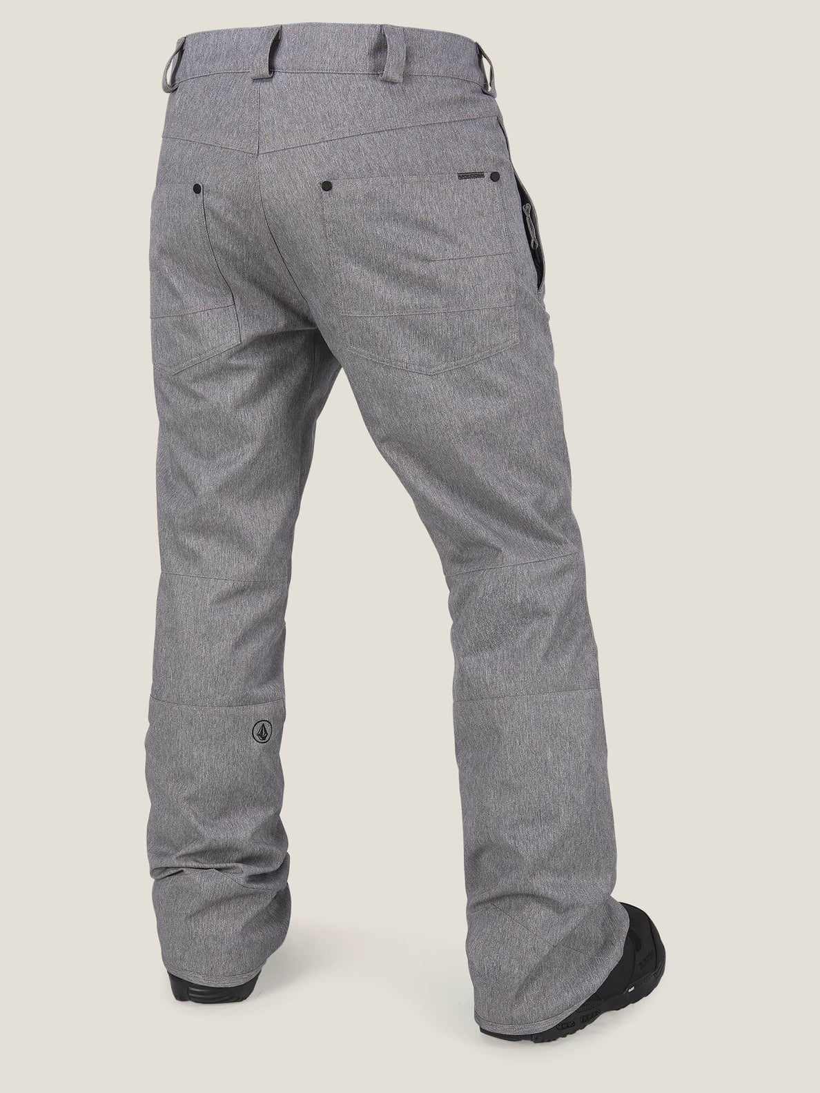 Klocker Tight Pant In Heather Grey, Back View