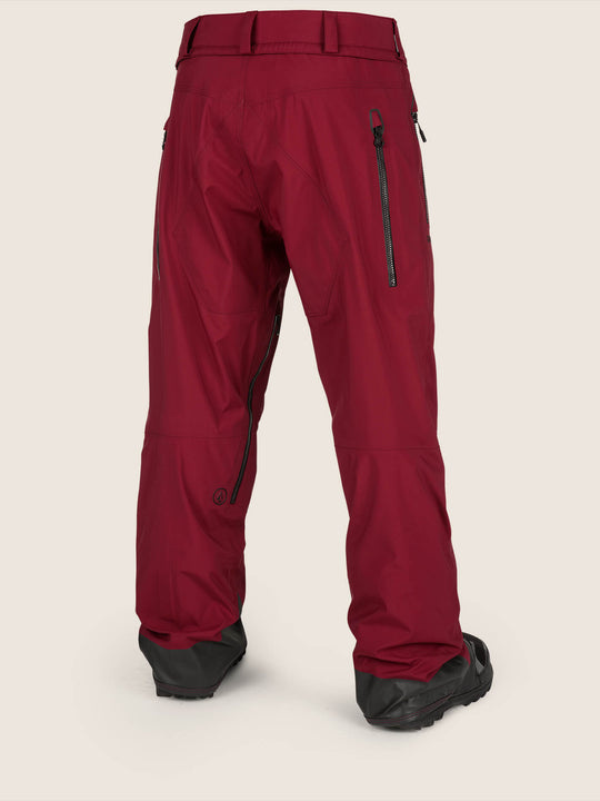 Guide Gore-tex Pant In Burnt Red, Back View