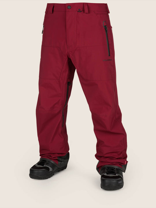 Guide Gore-tex Pant In Burnt Red, Front View
