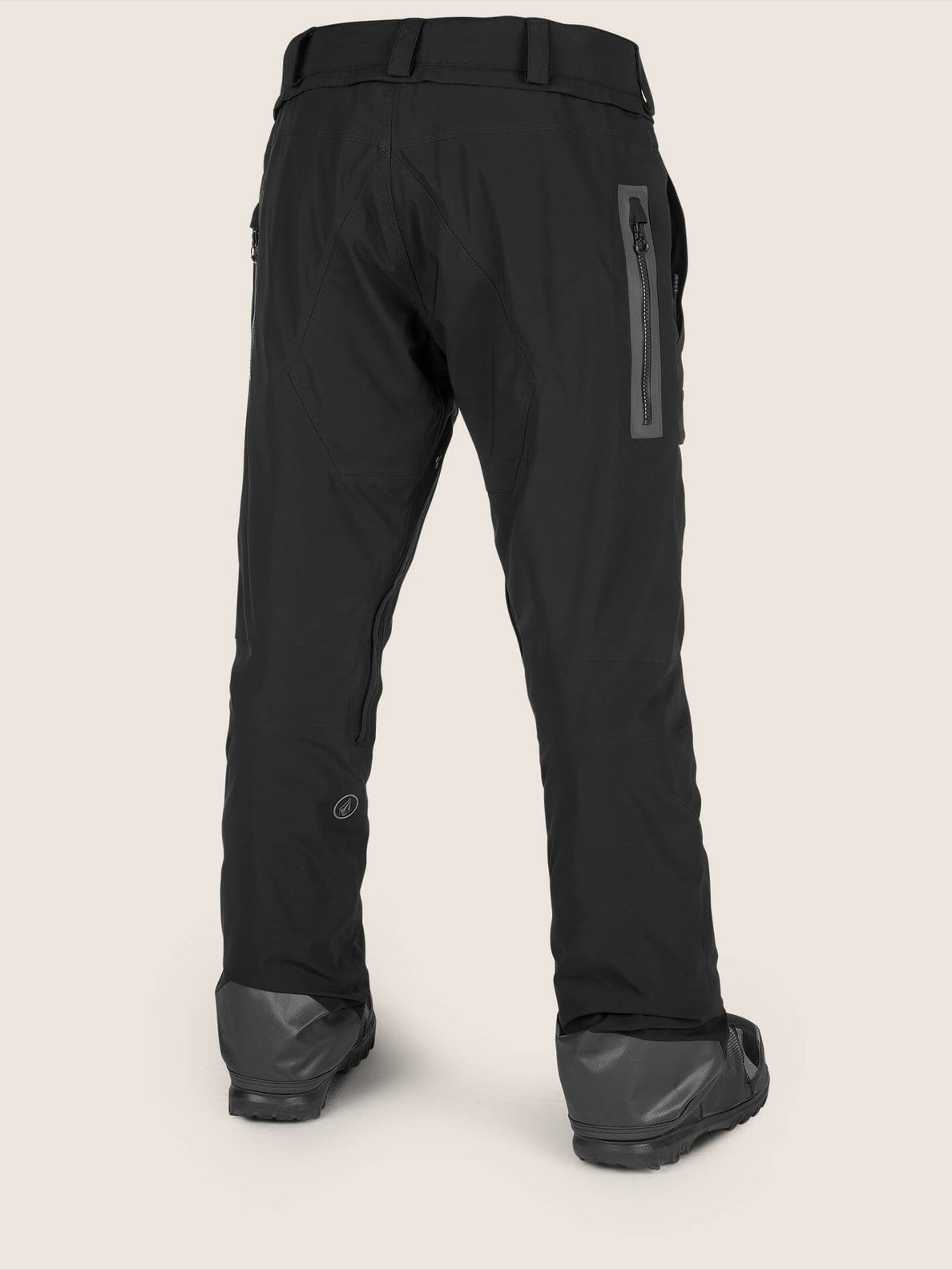Stretch Gore-tex Pant In Black, Back View