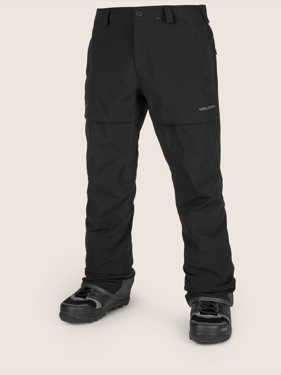 Stretch Gore-tex Pant In Black, Front View