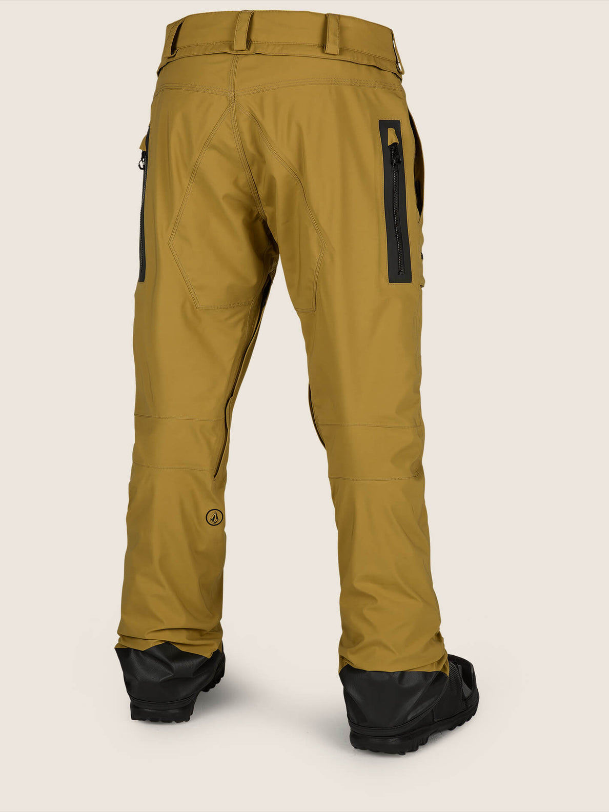 Stretch Gore-tex Pant In Resin Gold, Back View