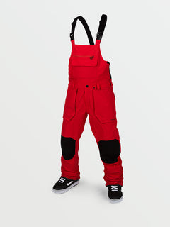 Mens Roan Bib Overall - Red (G1351909_RED) [F]
