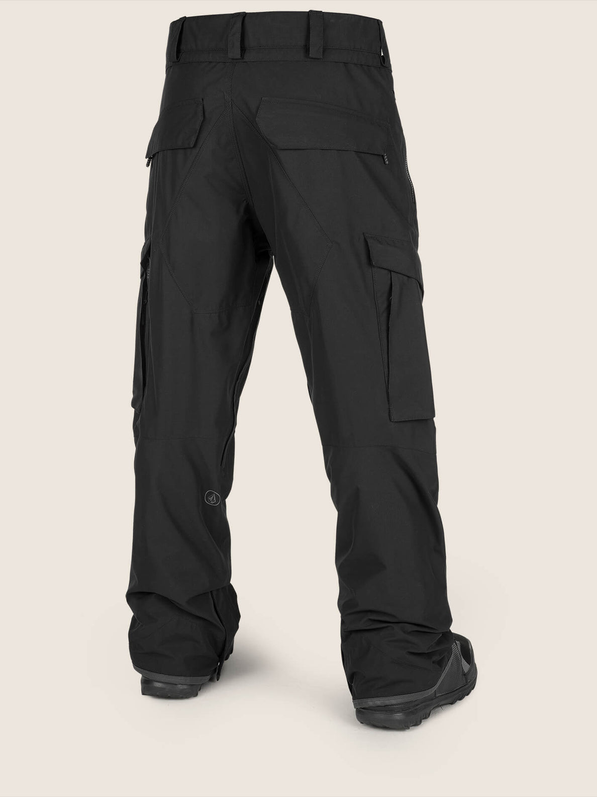 Lo Gore-tex Pant In Black, Back View