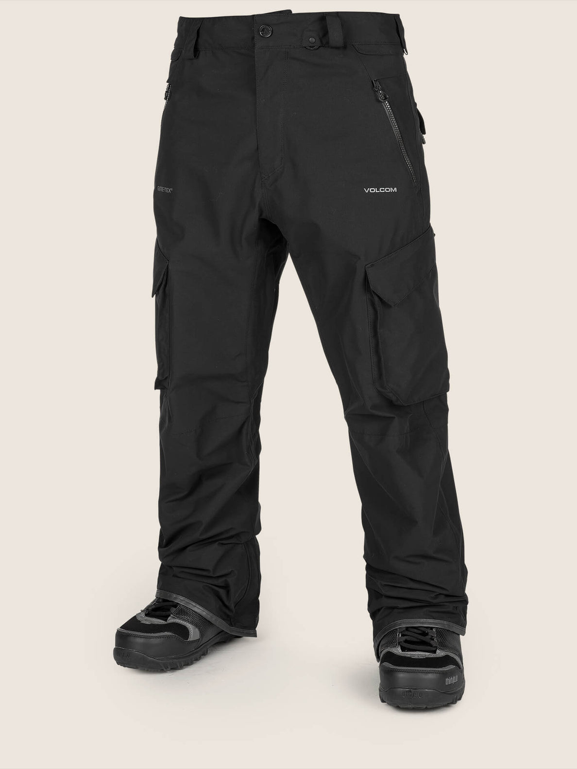 Lo Gore-tex Pant In Black, Front View