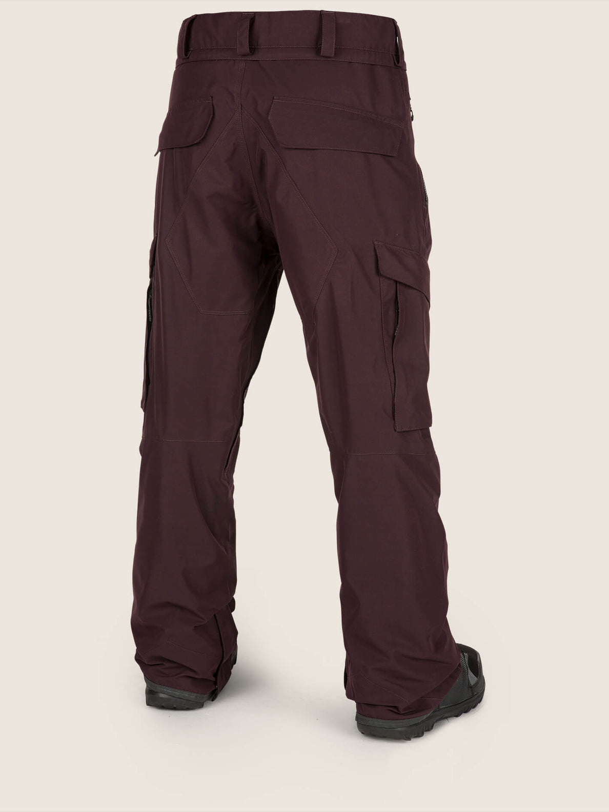 Lo Gore-tex Pant In Black Red, Back View