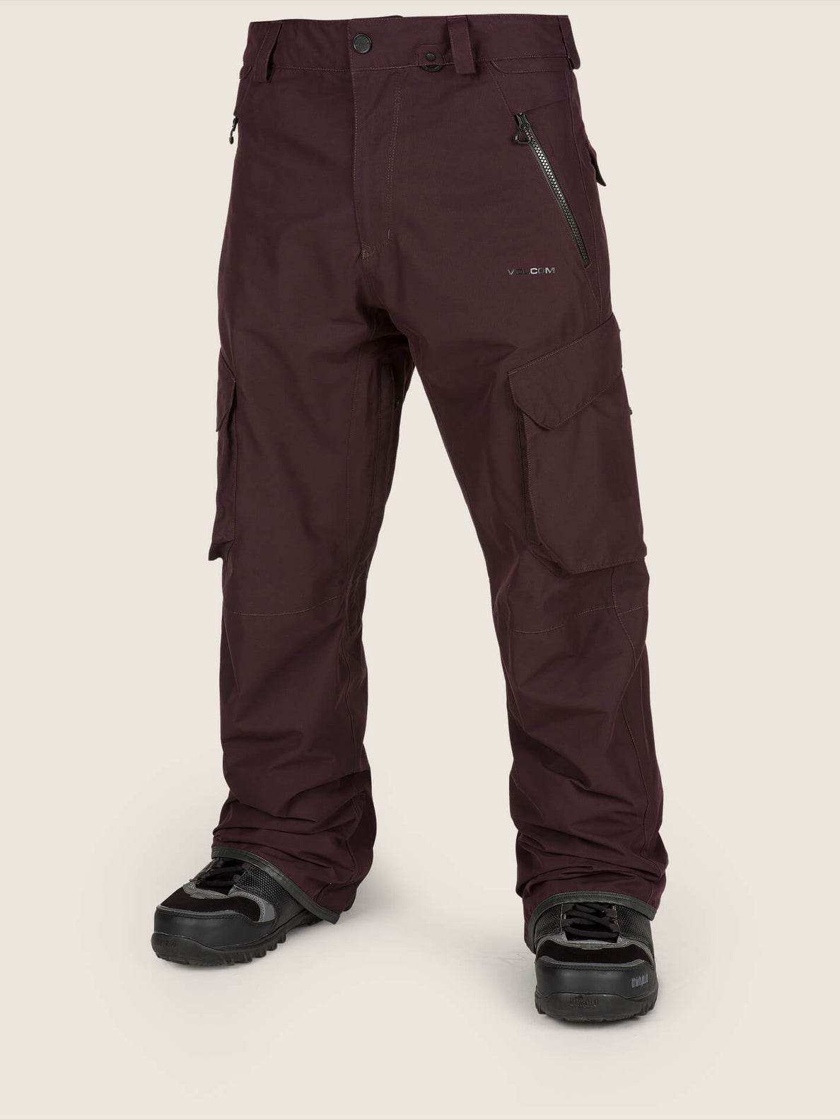 Lo Gore-tex Pant In Black Red, Front View