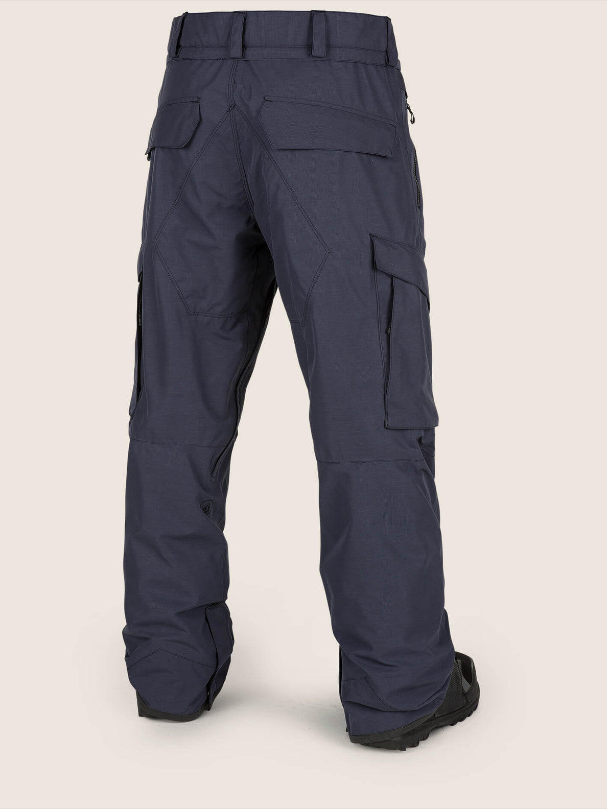 Lo Gore-tex Pant In Vintage Navy, Back View