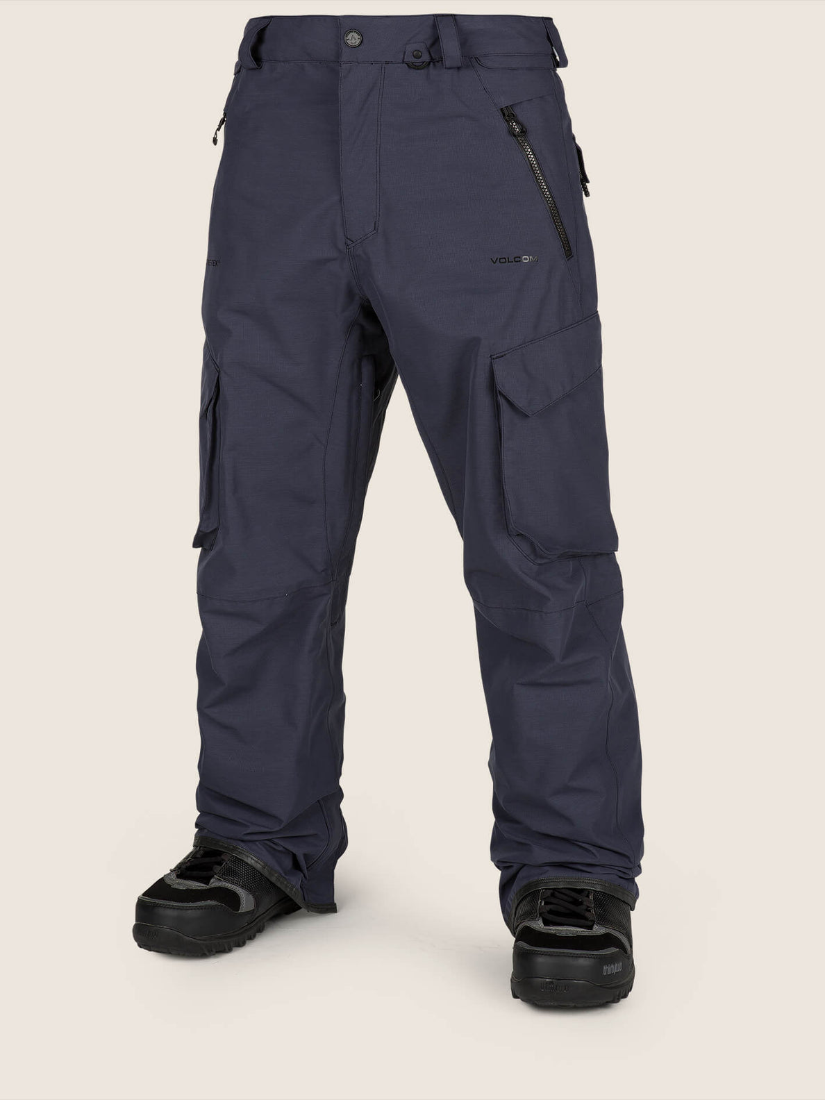 Lo Gore-tex Pant In Vintage Navy, Front View