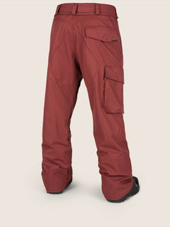 Ventral Pant In Burnt Red, Back View