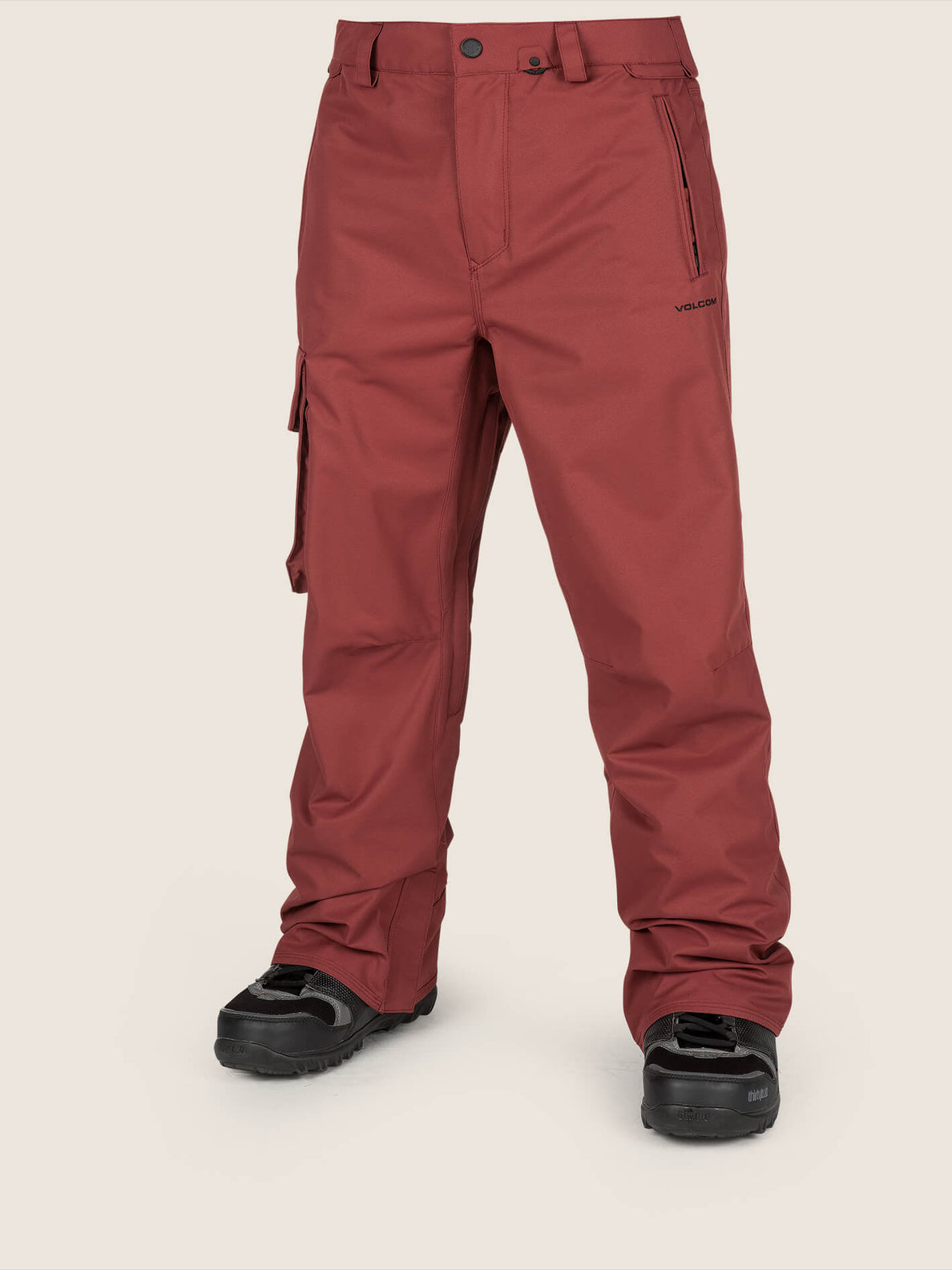 Ventral Pant In Burnt Red, Front View