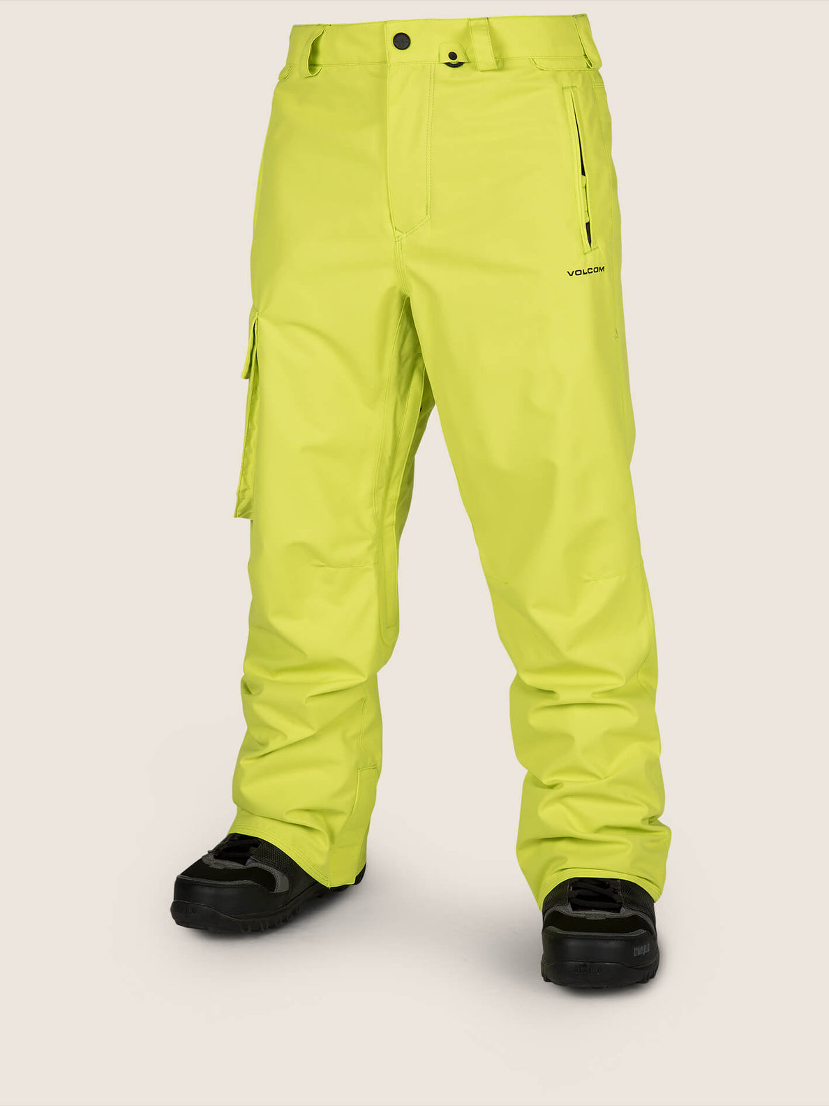 Ventral Pant In Lime, Front View
