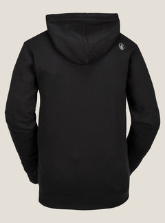 Jla Stone Zip Fleece In Black, Back View