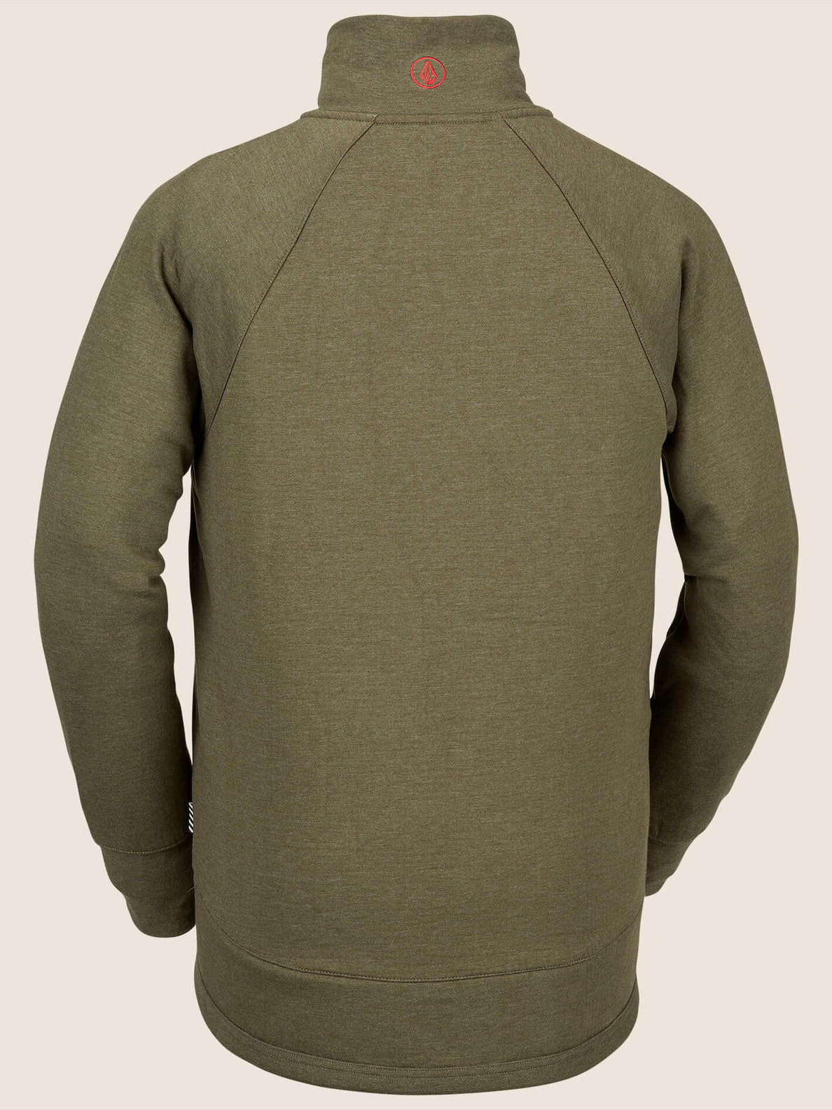 Riding Raglan In Snow Military, Back View