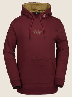 Jla Pullover Fleece In Burnt Red, Front View
